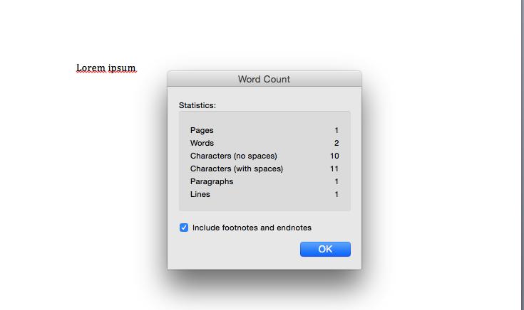 Lorem ipsum - počet znaků ve Wordu - počítání normostrany