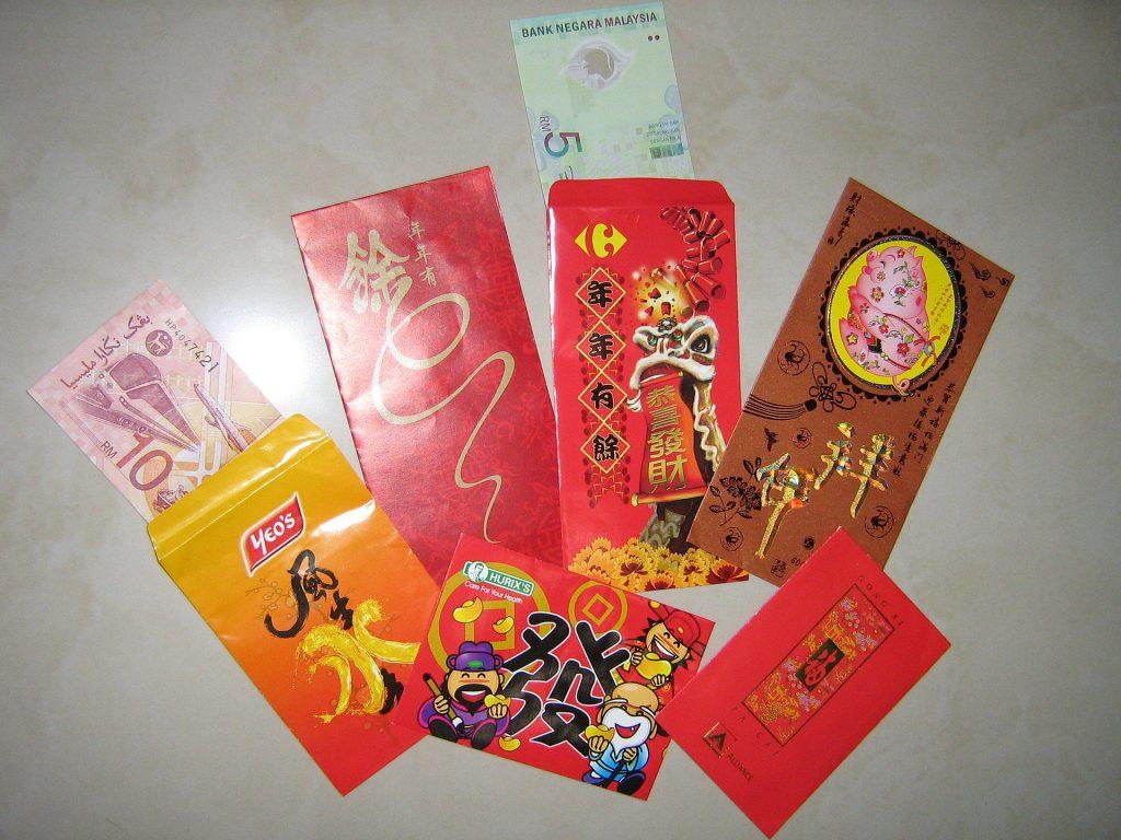 Červená obálka - čínský Nový rok