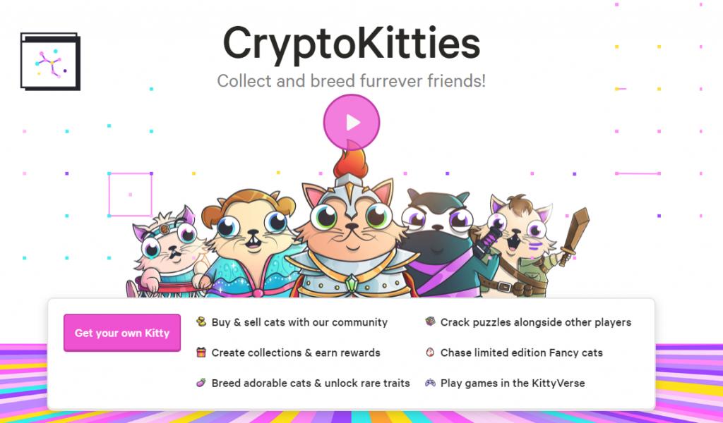 ryptoKitties je blockchainový hra na NFT